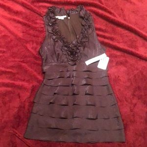 Maggy London shiny brown cocktail dress size 6